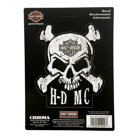 Harley-Davidson Skull & Crossbones Stick Onz Decal Set, 6 x 8 inches CG25056, Harley Davidson - Harley Davidson 6 Speed Transmission