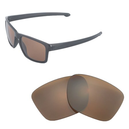 Walleva Brown Polarized Replacement Lenses for Oakley Sliver Sunglasses