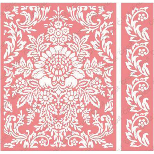 Cuttlebug A2 Embossing Folder/Border Set-Anna Griffin Juliet Damask Multi-Colored