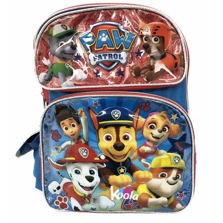 Paw Patrol Team Players 16 Large School Backpack Bookbag Licensed New