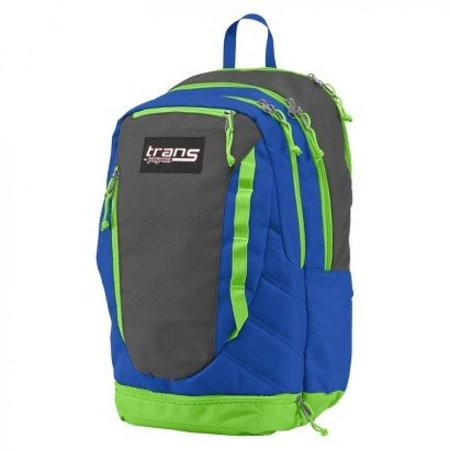 Trans JanSport Capacitor Backpack; Blue, Grey and Neon Green ()
