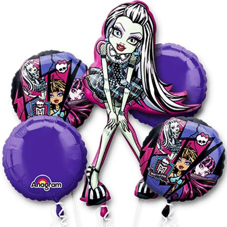 Monster High Character Authentic Licensed Theme Foil Balloon Bouquet - Monster High Birthday Theme