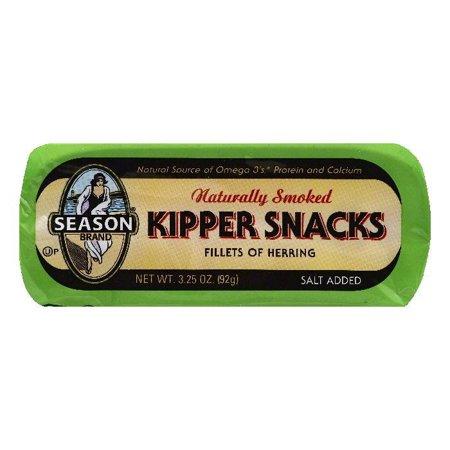 (3 Pack) Season Naturally Smoked Herring Kipper Snacks, 3.25 oz