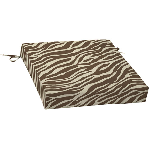 Mainstays Dining Seat Outdoor Cushion, Zebra