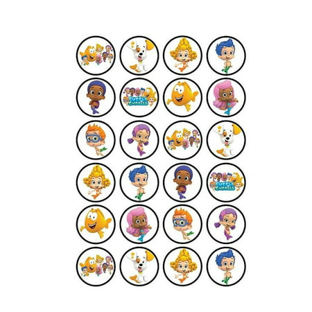 Bubble Guppies Edible Frosting Image Cupcake Toppers/Decorations