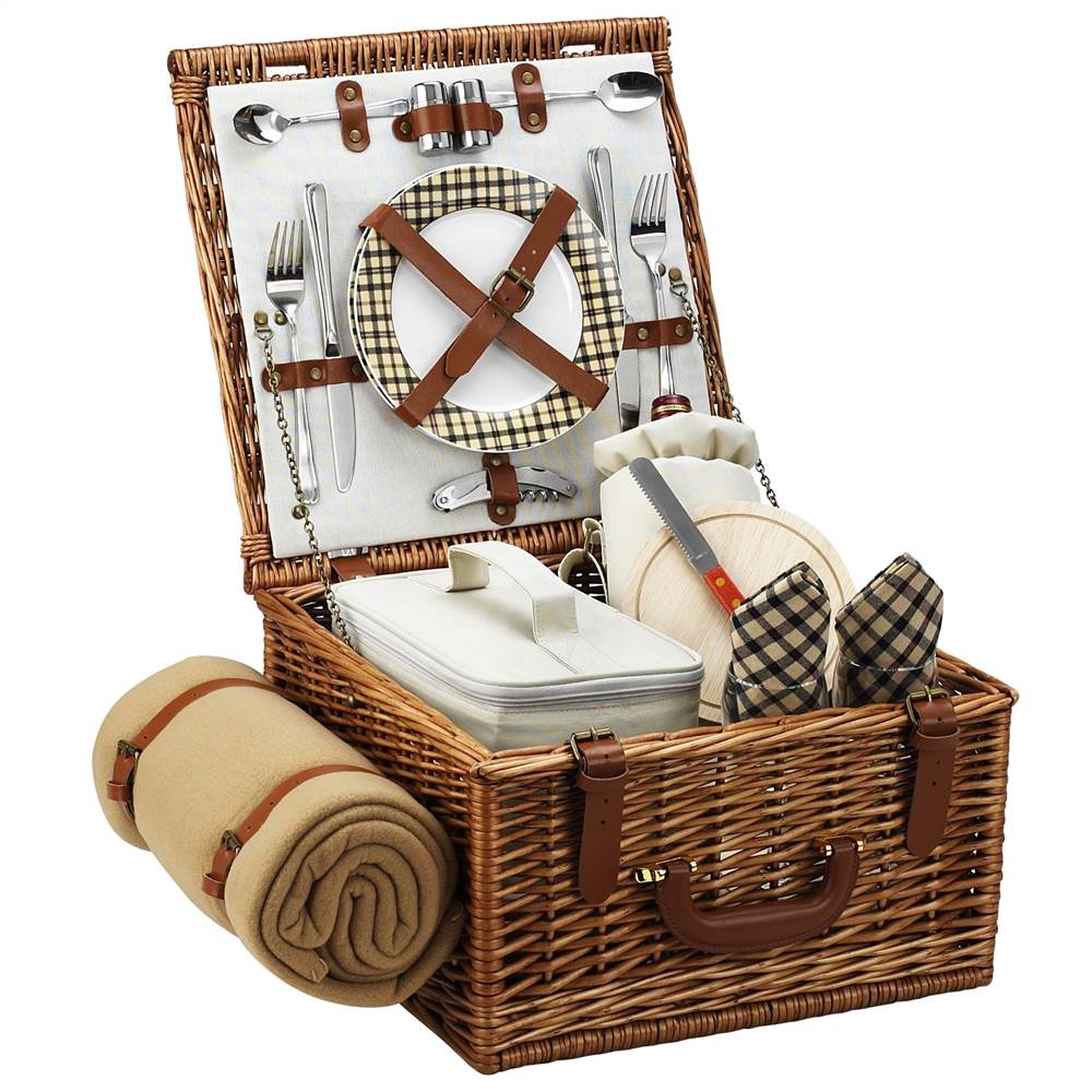 London Cheshire Basket for Two with Blanket