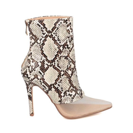 6ee8c74a3a73 Cape Robbin - Women Mesh Toe Ankle Boot - Stiletto Bootie - Mixed ...