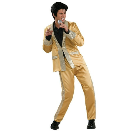 Gold Satin Elvis Deluxe Adult Costume S