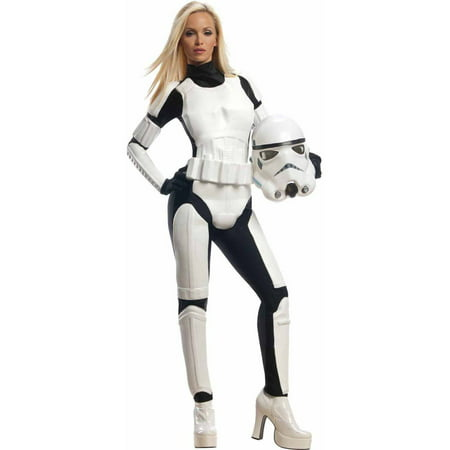 Star Wars Stormtrooper Women's Adult Halloween Costume (Famous Rock Star Halloween Costumes)