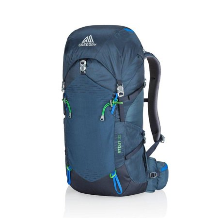 Gregory Mountain Products Stout 30 Men's Hiking Backpack | Day Hike, Camping, Travel | Integrated Rain Cover, Adjustable Components, Internal Frame Daypack | Streamlined Comfort on The Trail Navy Blue