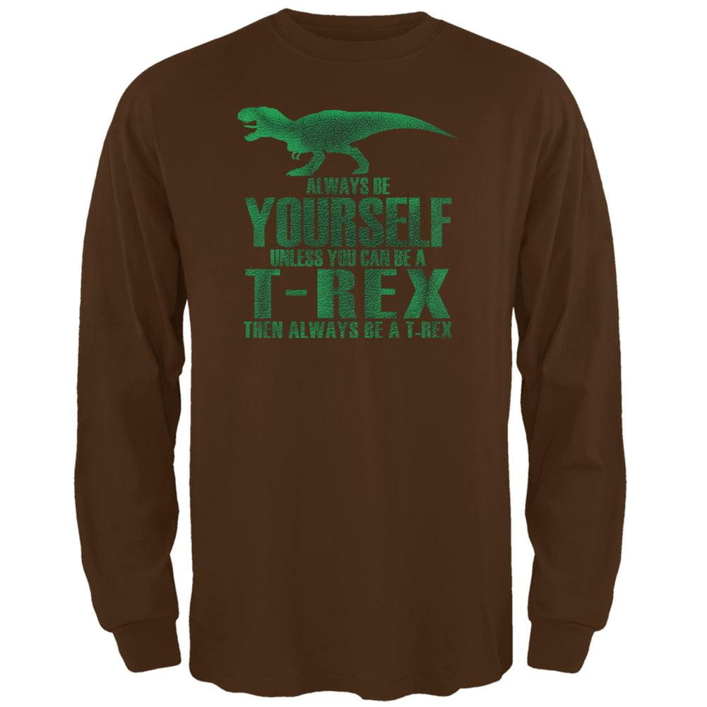 T Rex Logo Adult Long Sleeve T-Shirt