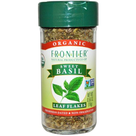 Frontier Natural Products, Organic, Sweet Basil, Leaf Flakes, 0.56 oz(pack of 6)
