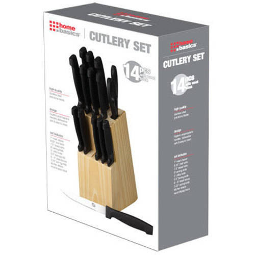 15-Piece Knife Set with Wood Block