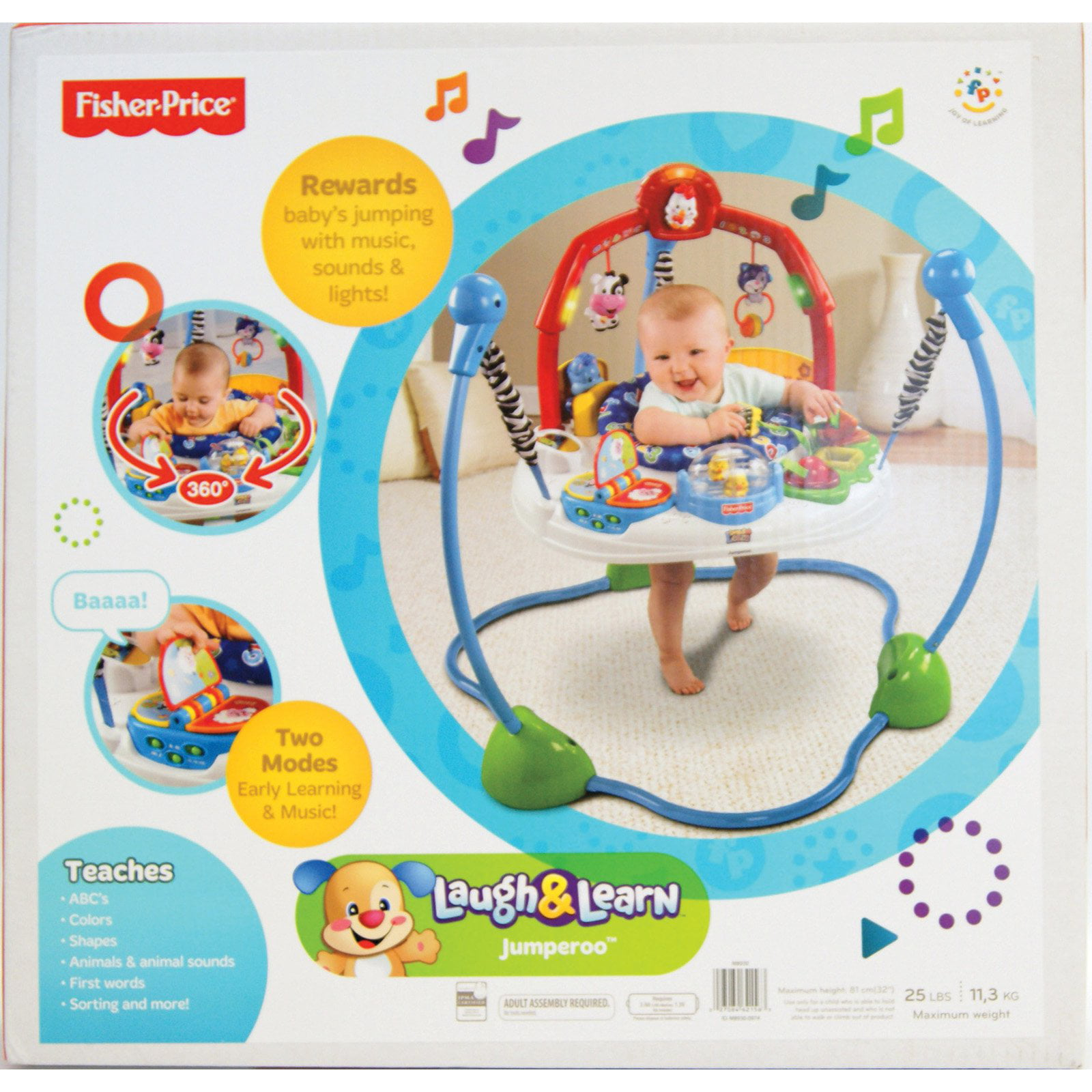 9413c6bd30f0 Fisher-Price Laugh  amp  Learn Jumperoo - Walmart.com