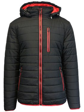 Boy's Heavy Puffer Jacket Coat With Detachable Hood