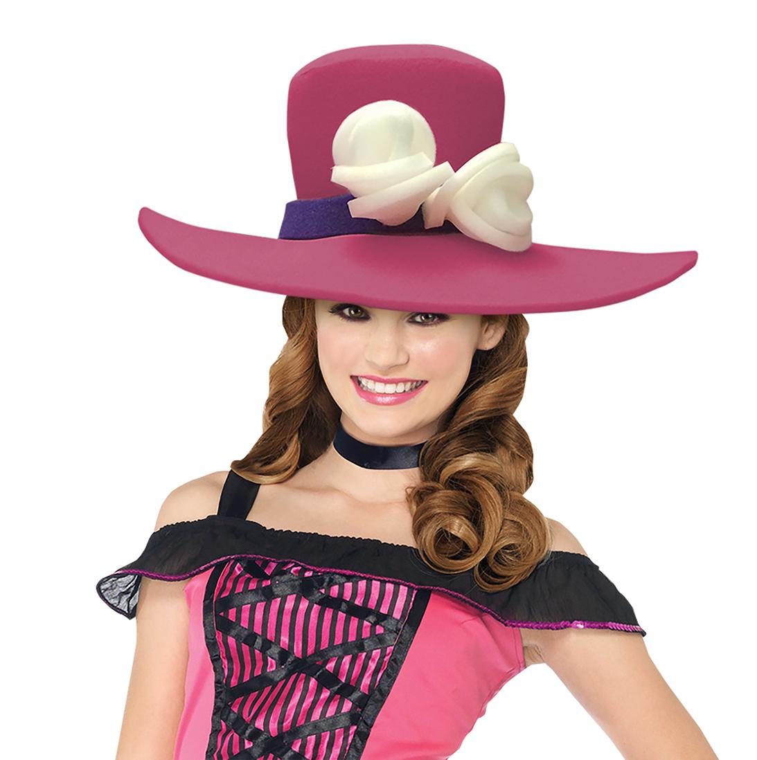 Flower Fedora Adult Foam Costume Hat - One Size - image 1 de 1