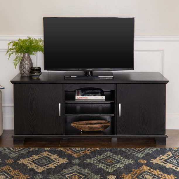"Walker Edison Transitional TV Stand for TVs up to 66"" - Black"