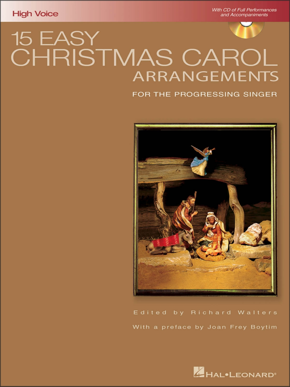 Hal Leonard 15 Easy Christmas Carol Arrangements for High Voice Book CD by