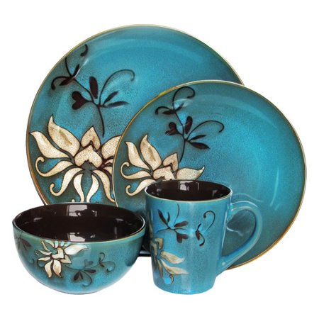 American Atelier Mirabel Blue 16-Piece Dinnerware Set ()