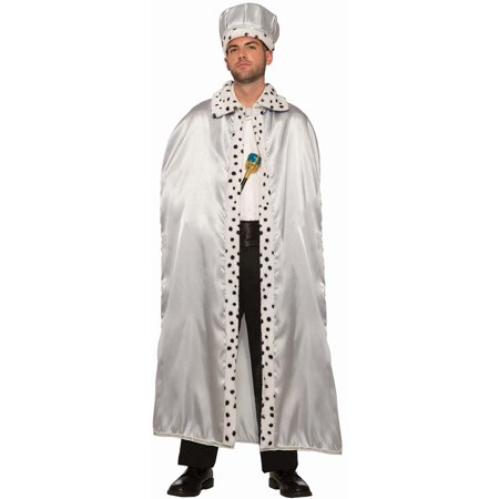 Silver Adult King Crown Halloween Costume Accessory - Costume King Crowns
