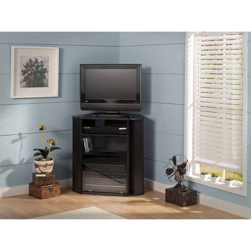 "Bush Furniture Visions Tall TV Stand, for TVs up to 37"", Black"