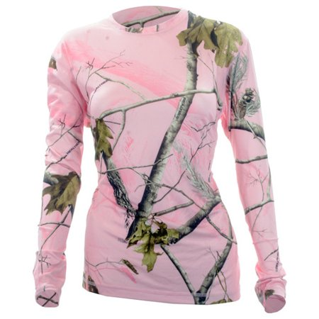 Medalist Womens Performance Crew Ls Level-2 Pink Camo 2xl