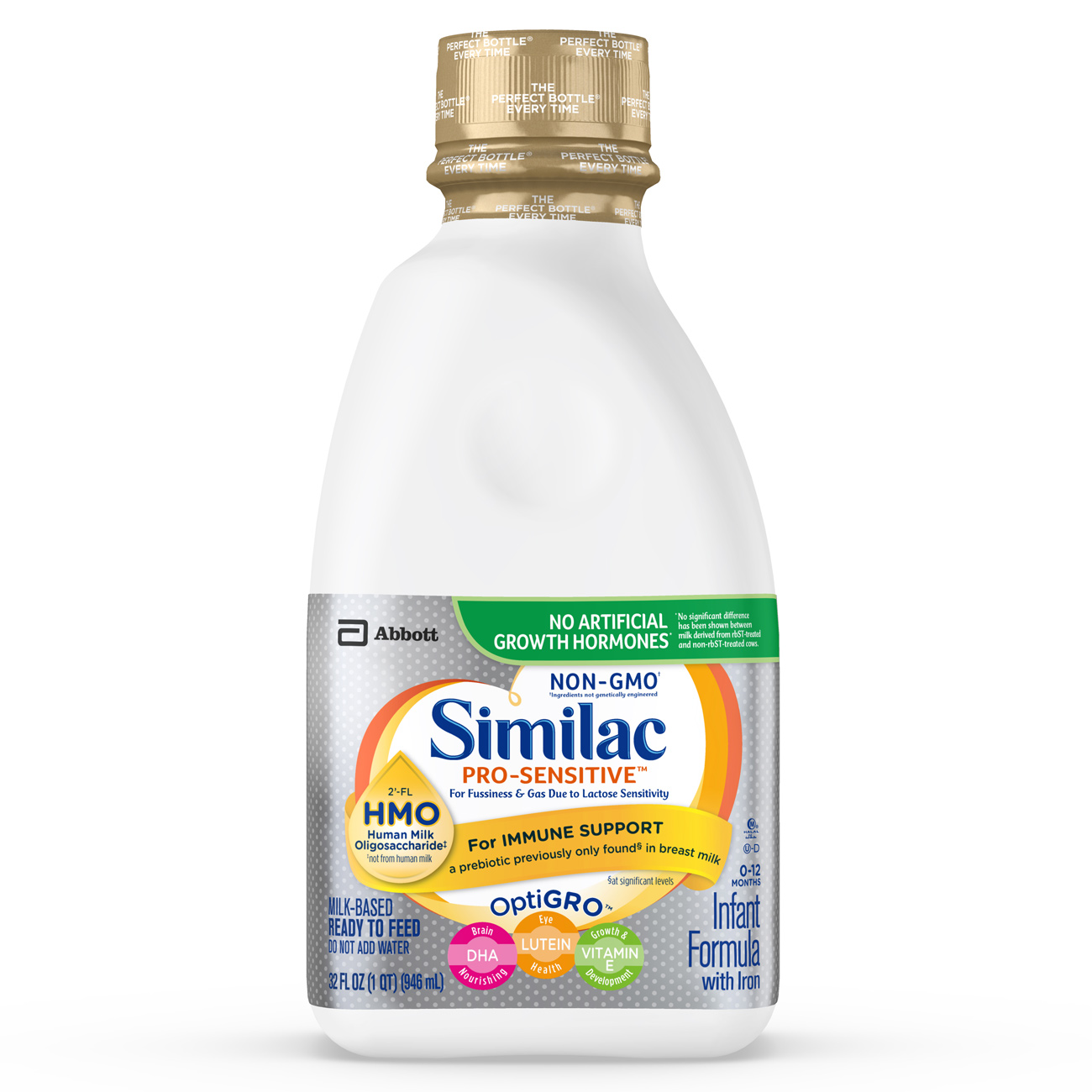 Similac Pro-Sensitive Infant Formula with 2'-FL Human Milk Oligosaccharide (HMO) for Immune Support, Ready to Feed, 32 fl oz