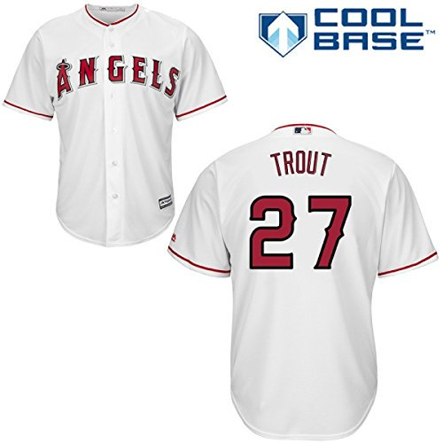 8716fc980 Mike Trout  27 Los Angeles Angels Majestic Big   Tall Cool Base Player  Jersey - White - Walmart.com