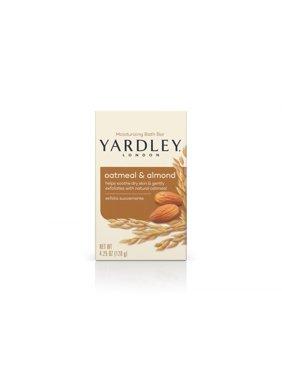 Yardley London Naturally Moisturizing Bath Bar, Oatmeal & Almond, 4.25 Oz Bar