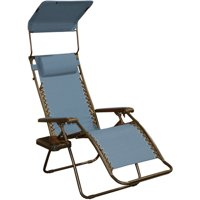 Bliss Hammocks Gravity Free Chair With Sun-Shade And Cup Tray In Denim Blue