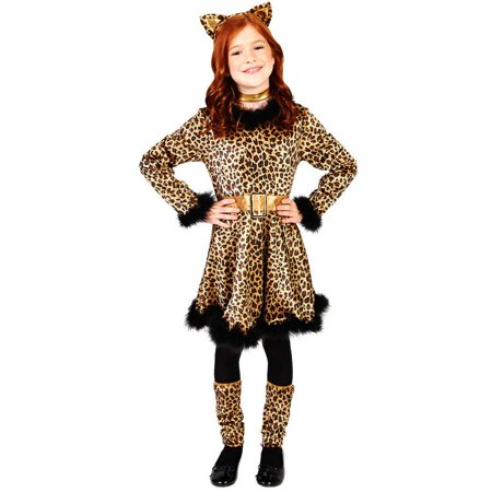Bold Leopard Dress Child Halloween Costume - Pretty Leopard Child Costume
