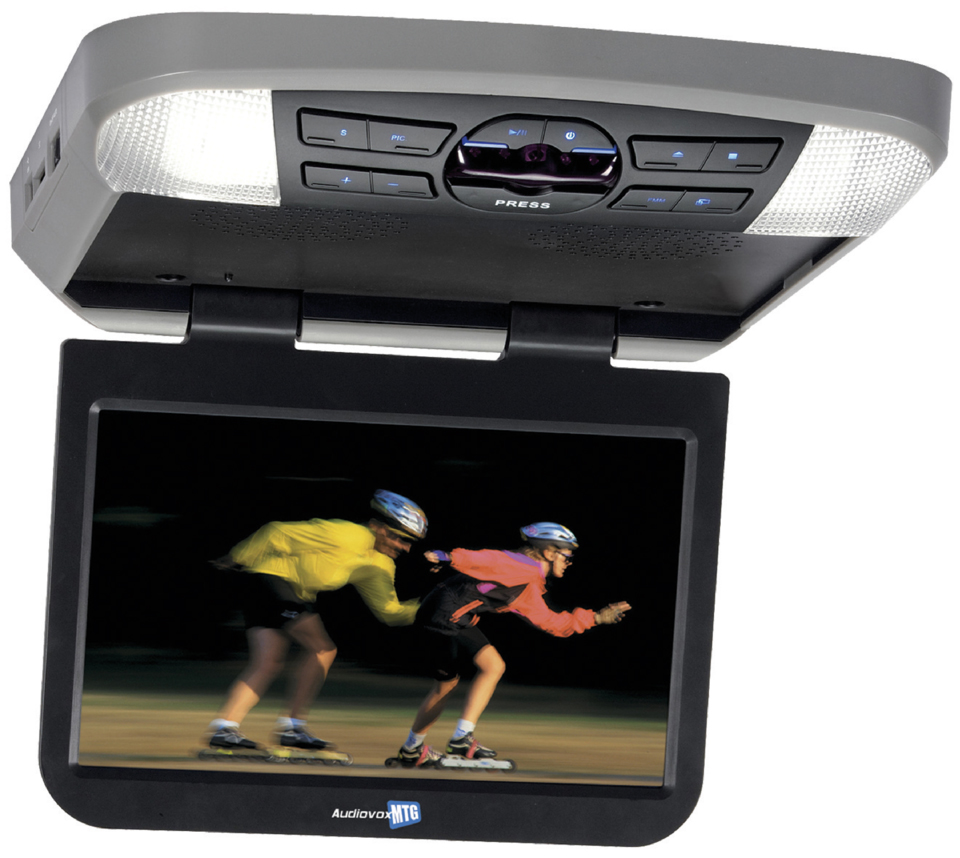 "Audiovox AVXMTG10UHD 10.1"" LED Backlit LCD Overhead DVD Player with HDMI MHL inputs by Audiovox"