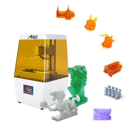 Anet N4 UV LCD 3D Printer Machine Fully Assembled Innovation with 2K HD 3 5  Inch Smart Colored Touchscreen U Disk Off-line Print Printing Size 4 72 *