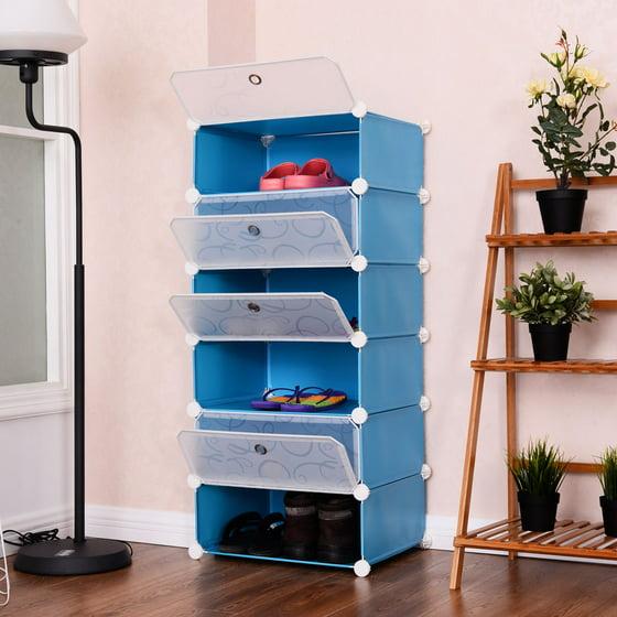 Storage Portable Furniture : Costway cubic portable shoe rack shelf cabinet storage