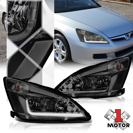 Smoke Tinted Headlight LED Running Light Clear Signal for 03-07 Honda Accord 04 05 06