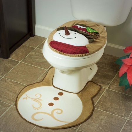 Prime Holiday Bathroom Snowman Toilet Seat Cover And Rug 2 Piece Pabps2019 Chair Design Images Pabps2019Com