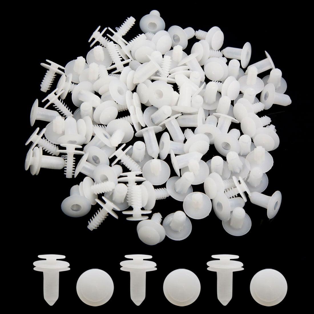50Pcs Plastic Rivets Push Pin Type Bumper Fender Fastener Retainer White 9mm - image 1 of 2