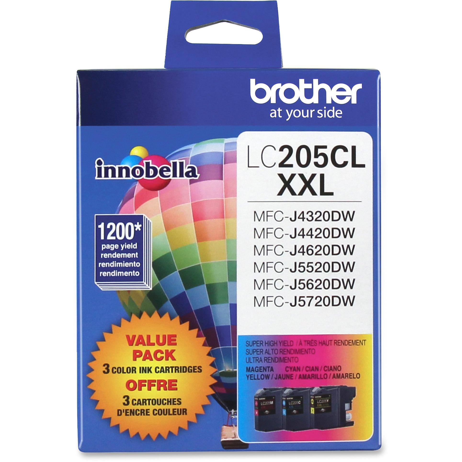 Brother LC2053PKS Innobella Super High-Yield Ink, Cyan/Magenta/Yellow, 3/PK