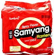 (5 Packs) Samyang Spicy Hot Beef Flavor Instant Ramen, 4.23 oz
