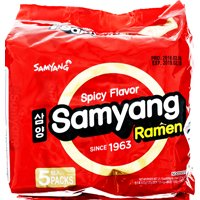 (5 Packs) Samyang Spicy Hot Beef Flavor Instant Ramen, 4.23 oz