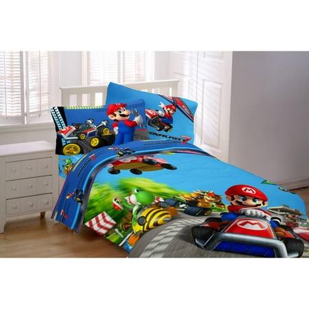 Super Mario Grand Prix Microfiber Twin Reversible Bedding