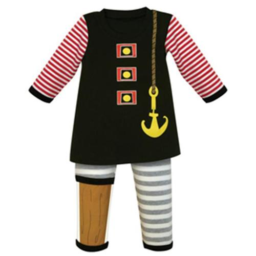 Stephan Baby 2 Piece Boy's Pirate Outfit (12-18 Months)