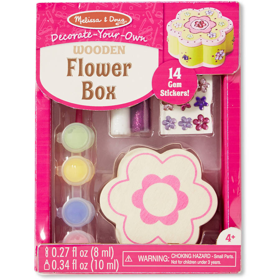 Melissa & Doug Decorate-Your-Own Flower Chest