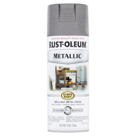 2-Pack Value - Rust-oleum stops rust metallic charcoal brilliant metal finish spray paint, 11 - Hammerite Metal Smooth Finish