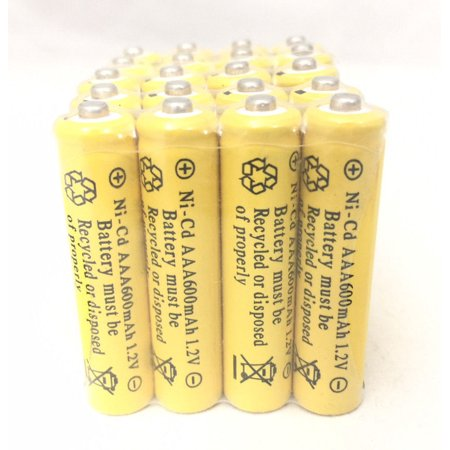 20 pcs Rechargeable NiCd AAA 600mAh Ni-Cad Batteries for Solar-Powered Light - Nicad Recharger