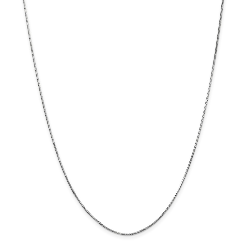 """14K White Gold 1.00mm Octagonal Snake Necklace Chain -30"""" (30in x 1mm) by"""