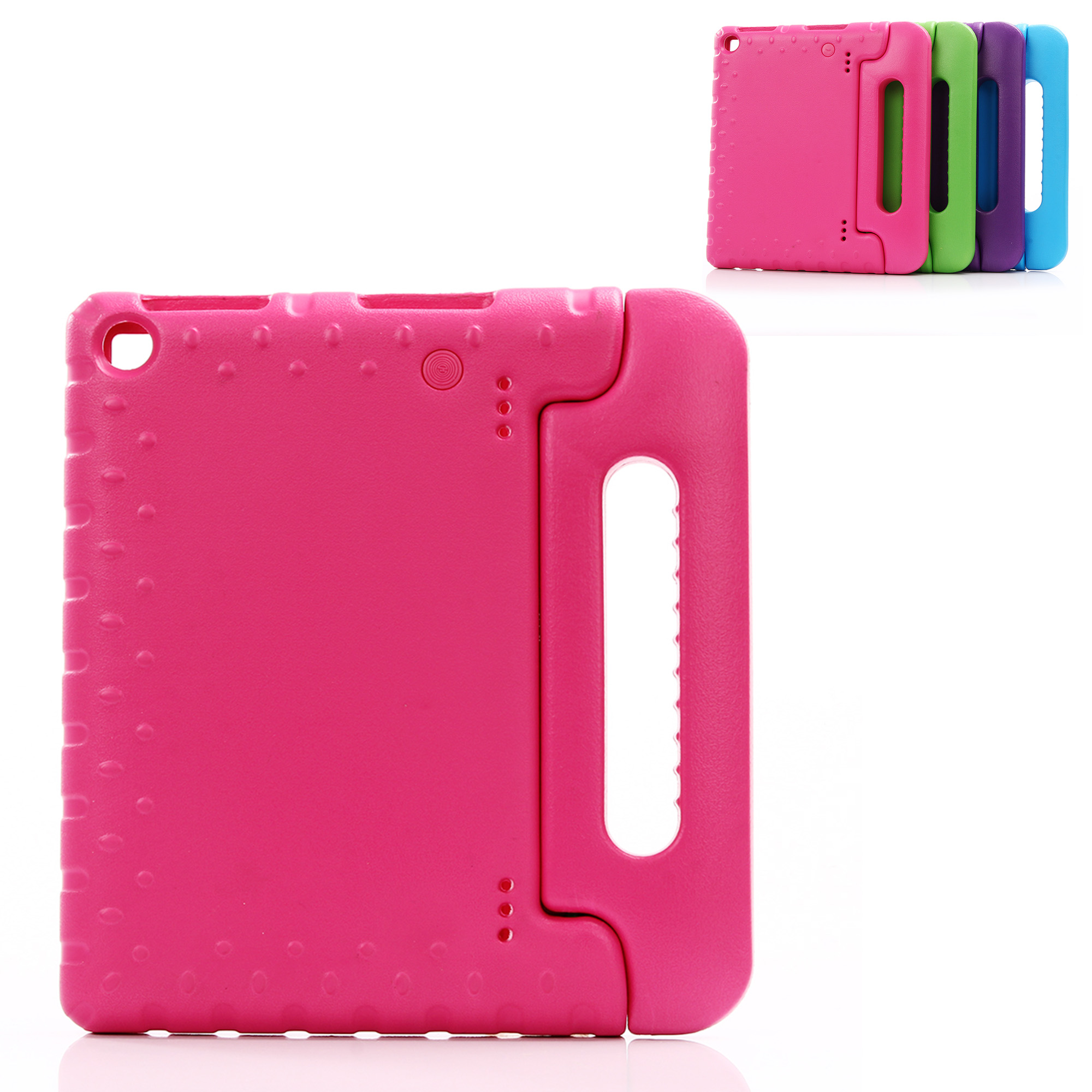 Dteck For Amazon Fire HD 8 Tablet Rose Kids Style Shockproof Silicone Gel Handle Stand Protective Case Cover