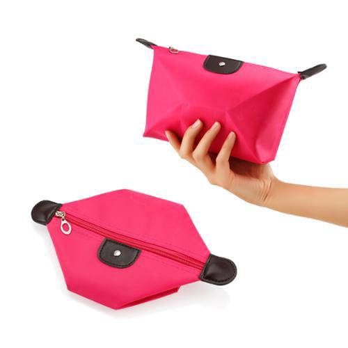 Travel Cosmetic Bag Storage Pouch Purse Makeup Case Multifunction Toiletry Zipper Organizer Handbag    - Hot Pink
