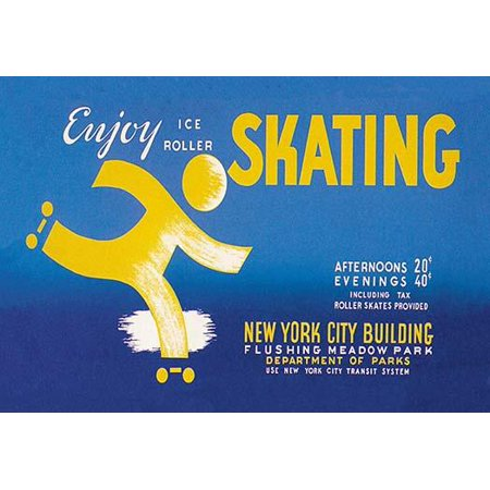 WPA Poster promoting ice roller skating at the New York City Building Flushing Meadow Park New York  In the depression of the 1930s a federal stimulus stimulus program was created the WPA  The Works P