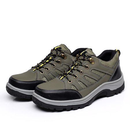 Meigar Men's Steel Toe Safety Shoes Work Sneakers Anti-Slip Hiking Climbing
